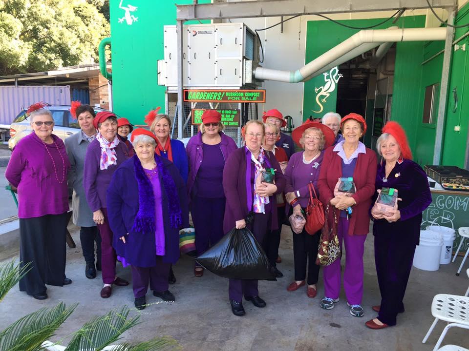 The Red Hatters visit Margin's Mushrooms